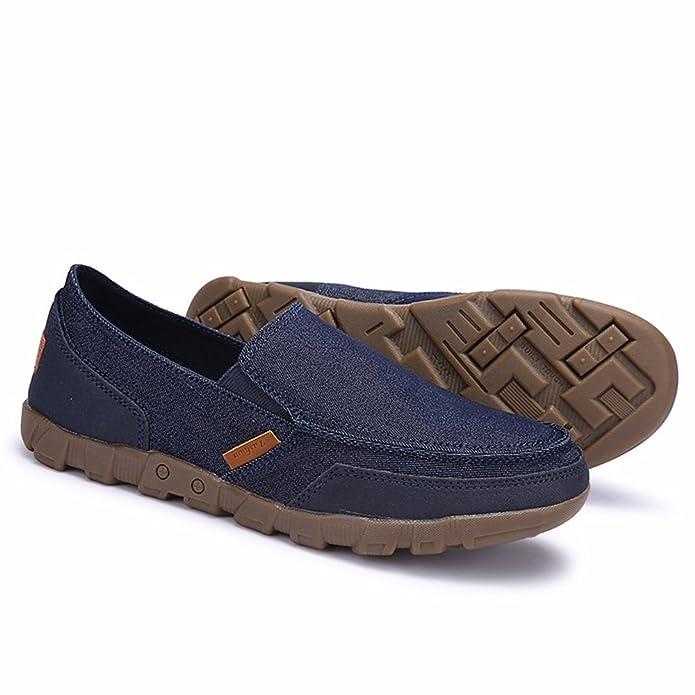 Hishoes - Mocasines de Lona para Hombre: Amazon.es: Zapatos y complementos