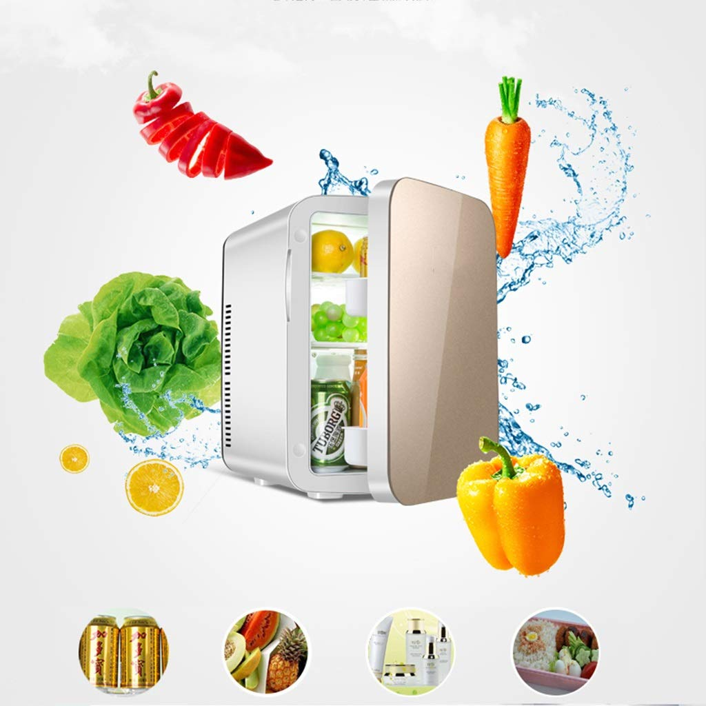 Refrigerator SHPING 15L Car Small Vertical Hot and Cold Dual-use Portable Energy-Saving Large Capacity Strong Refrigeration (Color : Gold) by Refrigerator