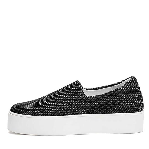 FRAU 37Y0 Schuhe der schwarzen Frauen Slip-On Sneakers Strecke Plateaus 40 hEwgAoPyo