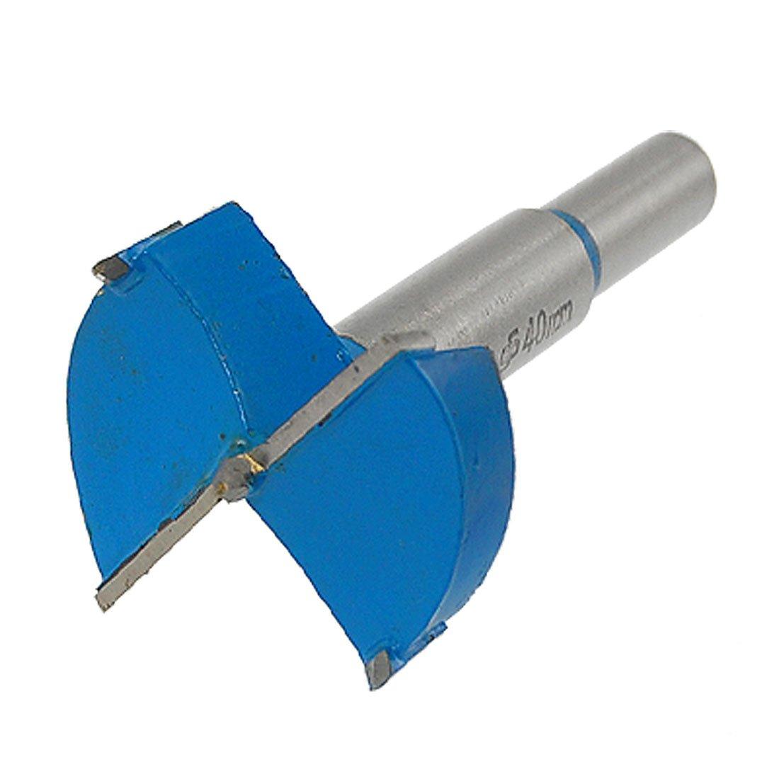 uxcell a11032300ux0165 9.5mm Shank 40mm Cutting Diameter Hinge Boring Drill Bit