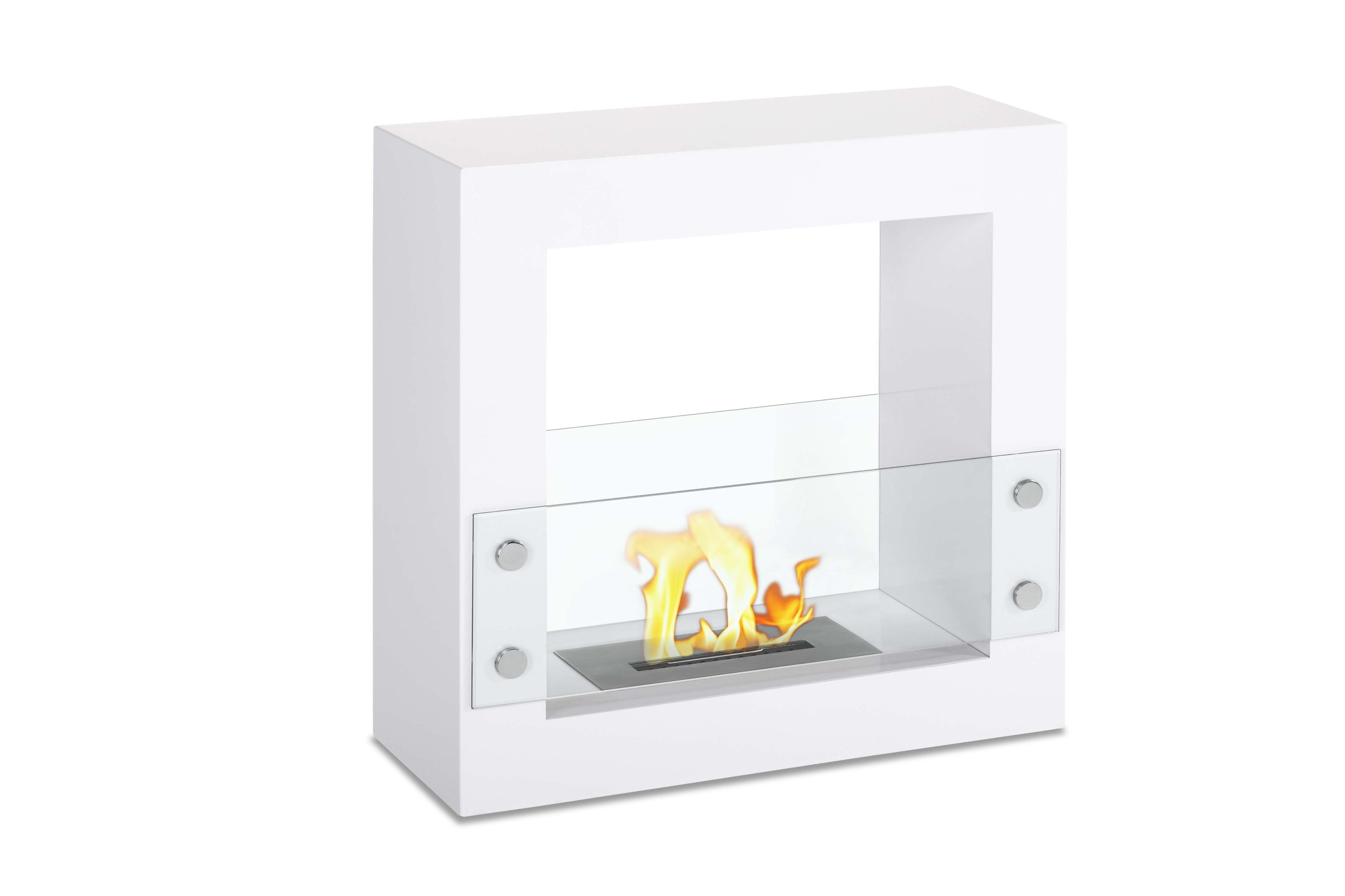 Ignis Tectum Mini White Freestanding Ventless Ethanol Fireplace by Ignis Products