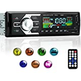 KYG Car Stereo with Bluetooth, Car MP3 Player Support USB/SD/AUX/FM, Single Din Car Radio, Wireless Remote Control
