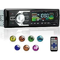KYG Poste Radio Voiture Auto Radio Stéréo Bluetooth de Voiture Poste Radio USB Voiture AM FM WMA MP3 MP4 Téléphone FM Stéréo avec Télécommande - Notice en Français