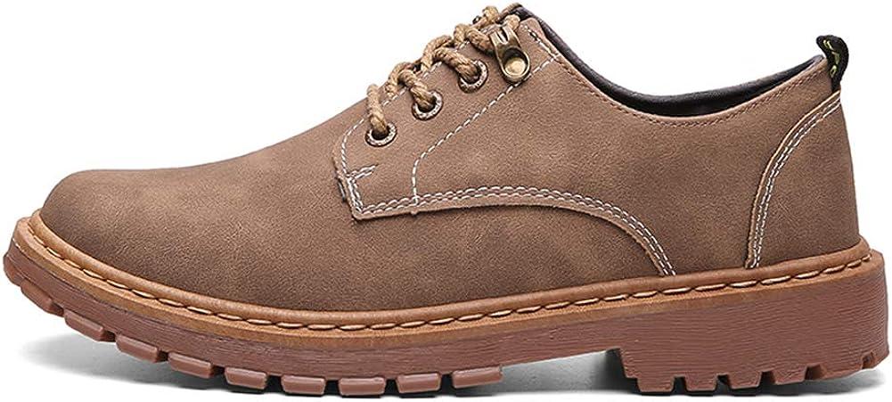Männer schnüren Sich Oben Segeltuchschuhe British Fashion Suede Sneakers Oxford Low Top Seasons Bequeme Schuhe Kaffee pBHxX