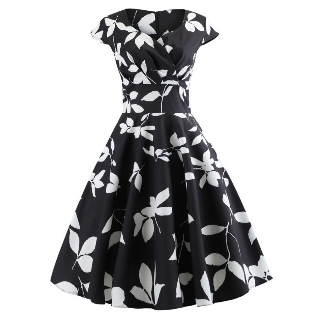 Agrintol_Women Dress DRESS レディース B07G2PMNND ブラック2 X-Large