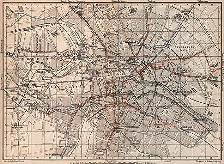 Amazoncom BERLIN STRAßENBAHNNETZ Tramway Network City Centre - Vintage map berlin