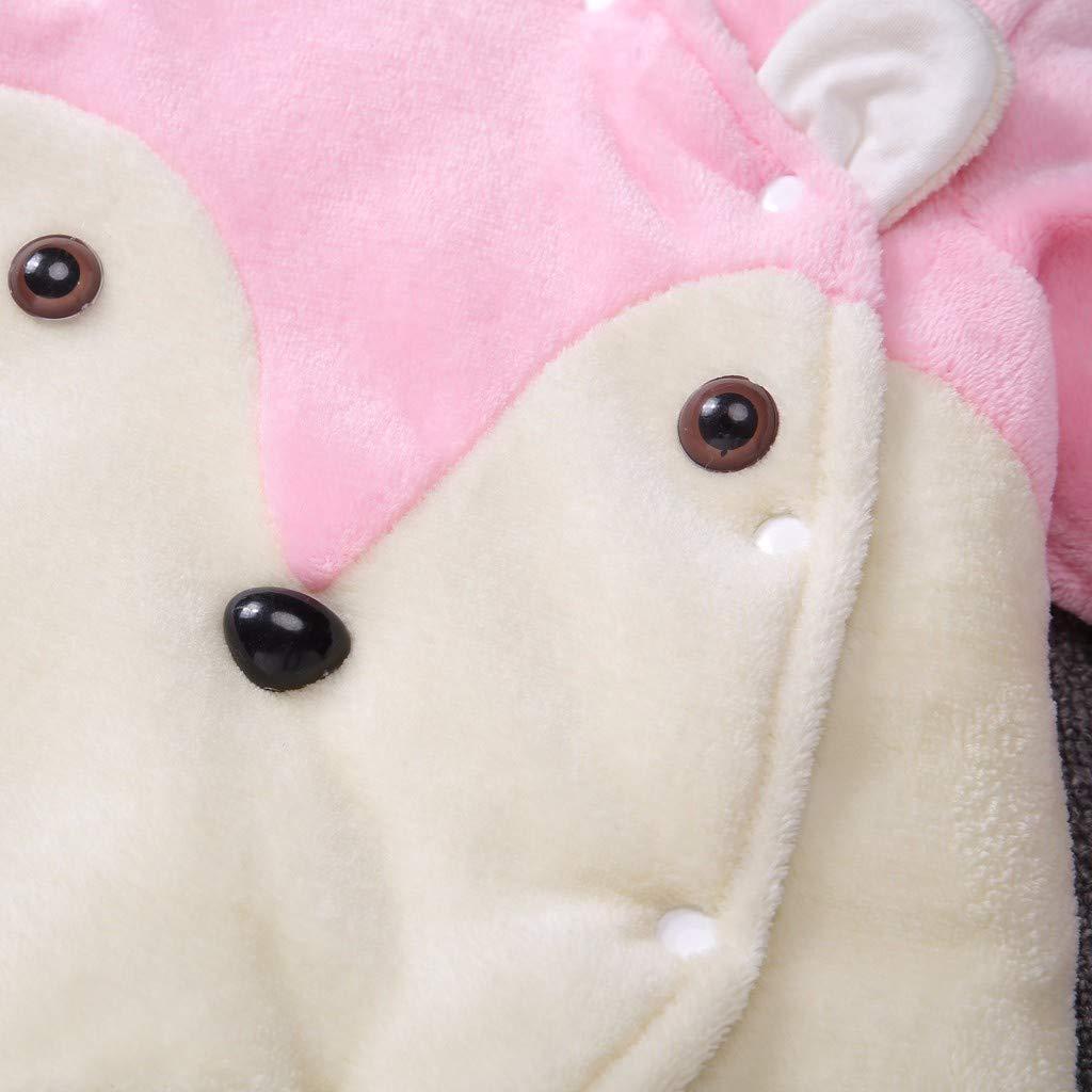 UOMOGO Pigiami Bambina e Bambini Pagliaccetto con Cappuccio Prima Infanzia Tutine Bambine Invernale Snowsuit Autunnale Bambino Neonato Caldo Neonata Termica Inverno Giubbotto 0-12 Mesi