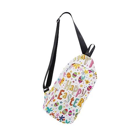 94e1a40d789b Amazon.com | Unisex Messenger Bag Happy Easter Bunny Rabbit Egg ...