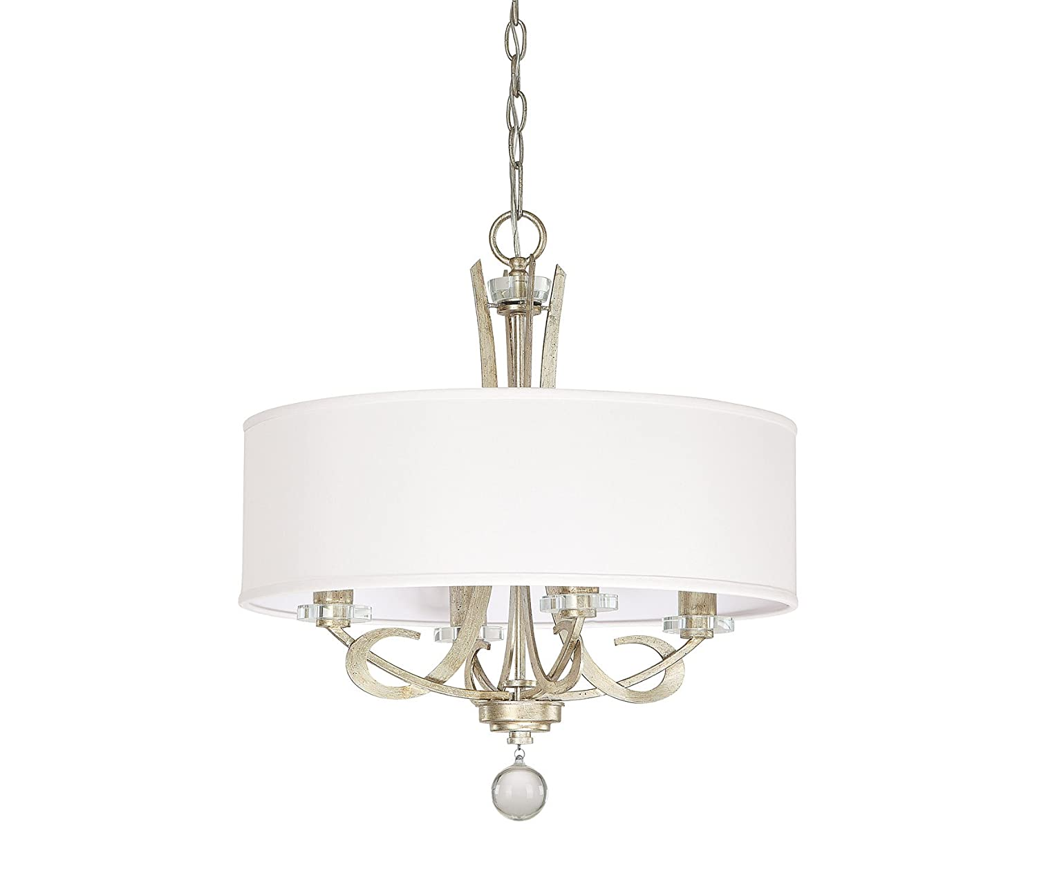 Capital Lighting 4264WG-568 Hutton 4-Light Chandelier Winter Gold Finish with Decorative Shade - Pendant Chandelier - Amazon.com  sc 1 st  Amazon.com & Capital Lighting 4264WG-568 Hutton 4-Light Chandelier Winter Gold ... azcodes.com
