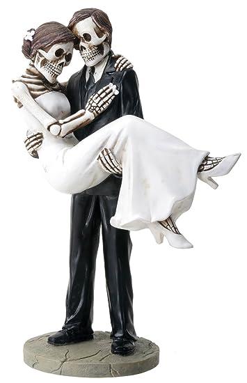 Amazoncom Groom Carrying Bride Skeleton Face Wedding Couple