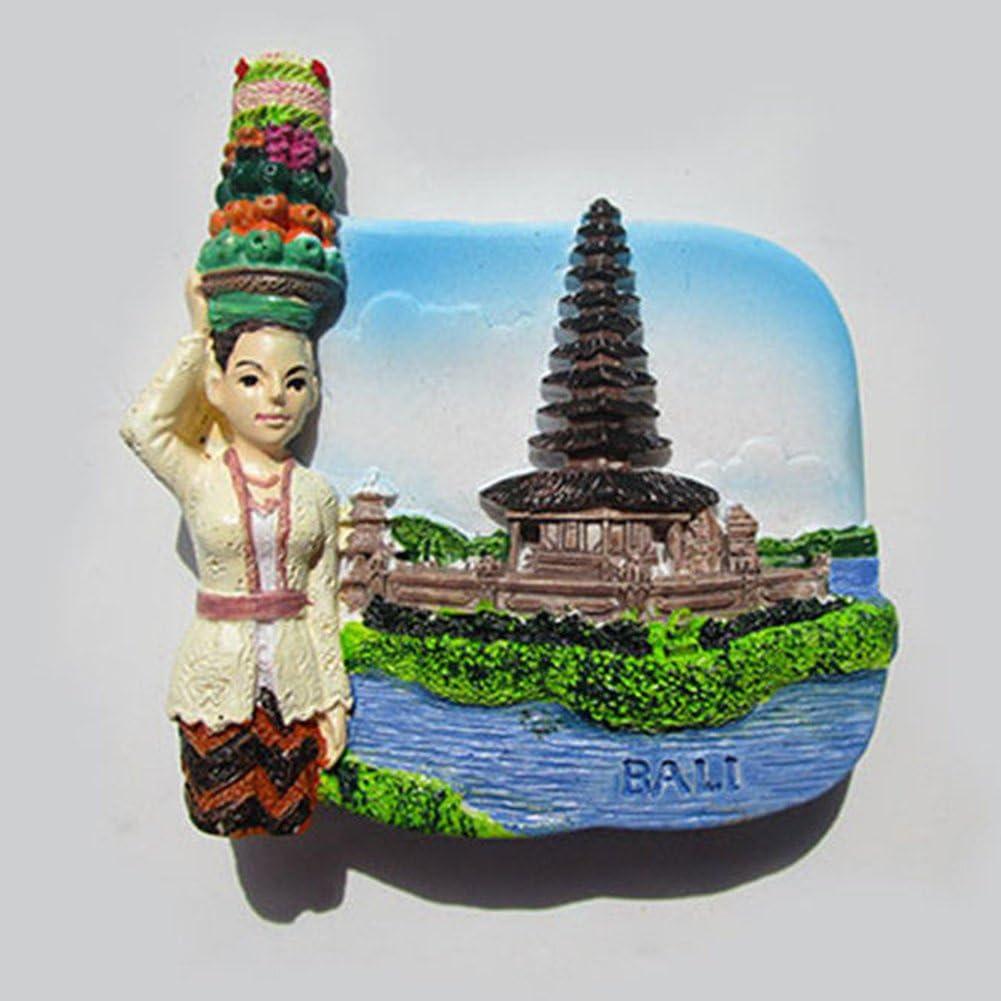 Bali Island Taille Unique Bclaer72 Aimant de r/éfrig/érateur en r/ésine 3D Aimant de r/éfrig/érateur en Verre pour r/éfrig/érateur et Tableau Blanc