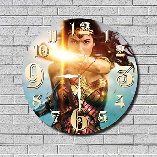 Wonder Woman Costumes Change Comic (WONDER WOMAN WALL CLOCK Quiet Sweep Movement Decorative Battery Operated 11,8 Inch – for devoted fans of DC comics.)