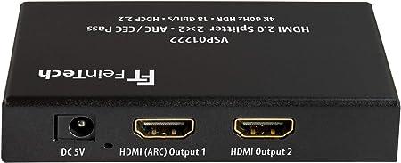 Feintech Vsp01222 Hdmi 2 0 Splitter 2 Inputs 2 Outputs Elektronik