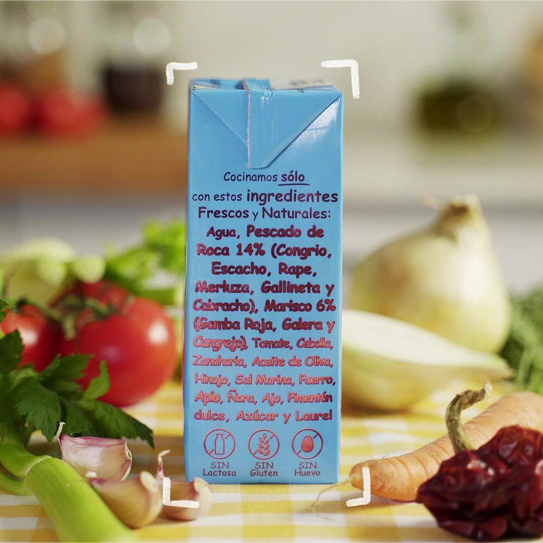 Aneto 100% Natural - Fumet de pescado y marisco - caja de 6 unidades de 1 litro: Amazon.es: Alimentación y bebidas