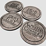 Game of Thrones - Weathered Wood Vynil Drink Coaster set of 4