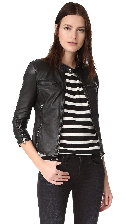 Women Black Racer Lambskin Leather Jackets