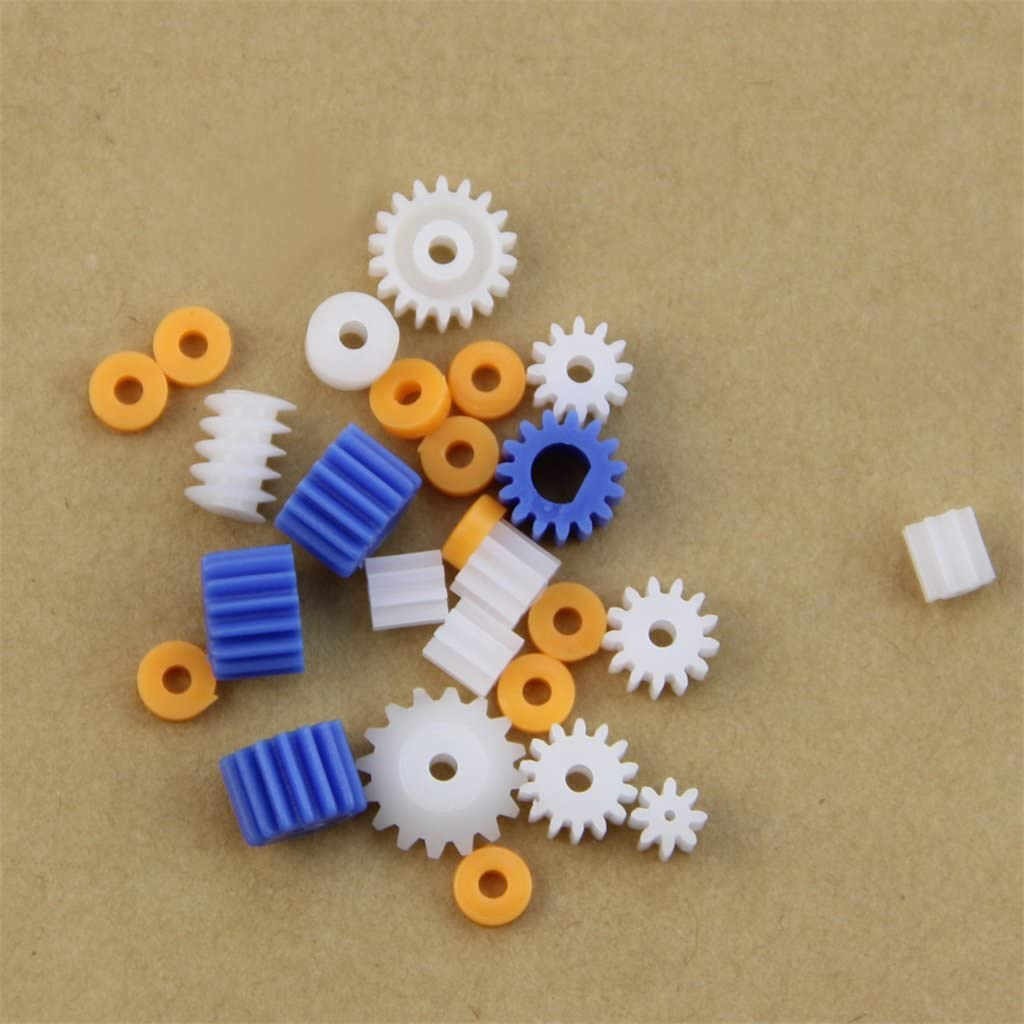 Rtengtunn 16 Types Engrenages darbre Engrenages daxe Gear-B 2MM 2,3MM 3MM 3,17MM 4MM Plastique