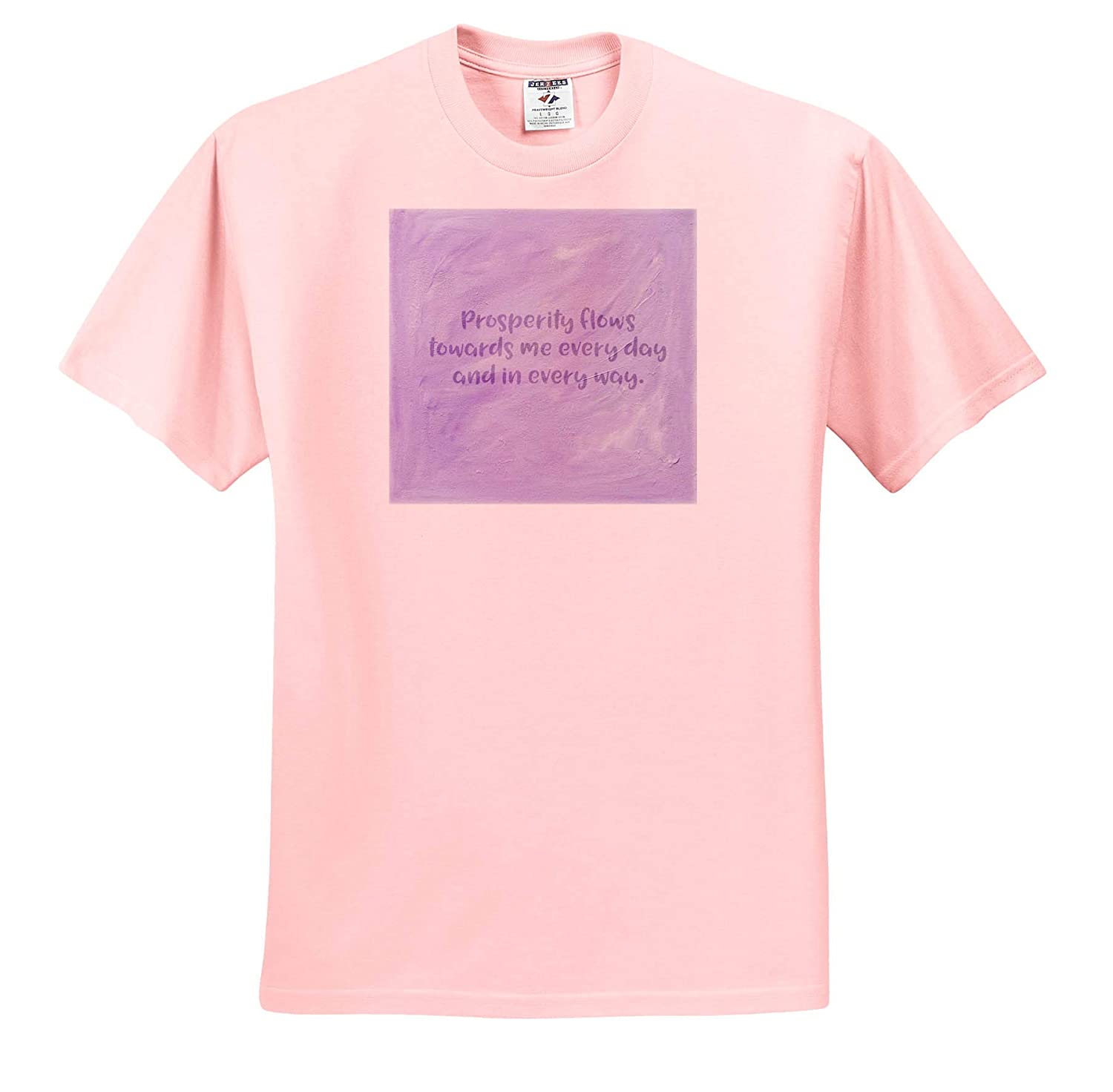 Adult T-Shirt XL Prosperity Mantra in Purple ts/_314194 3dRose Cassie Peters Mantras