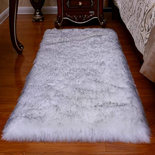 2020 Updated Version Fluffy Faux Fur Rug Shaggy Sheepskin Area Small Rug