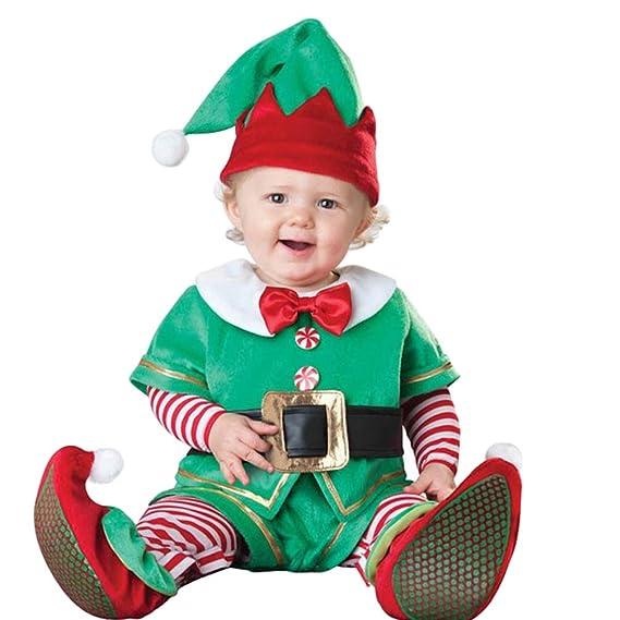 JEELINBORE Bebé Niños Niñas Disfraz de Elfo Navidad Duende ...