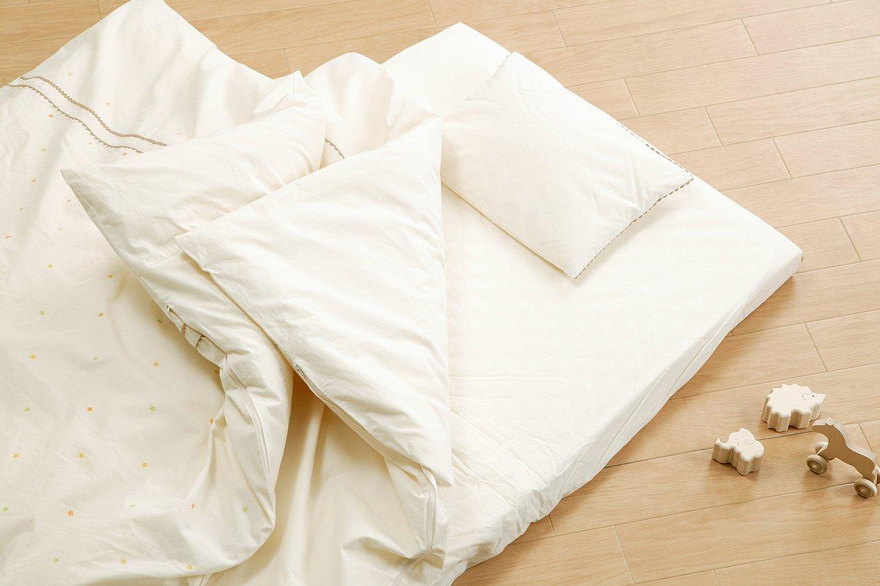 キムラタン 愛情設計 【日本製】オーガニックお布団セット (20008) フリー オフホワイト B00SFI4FHI