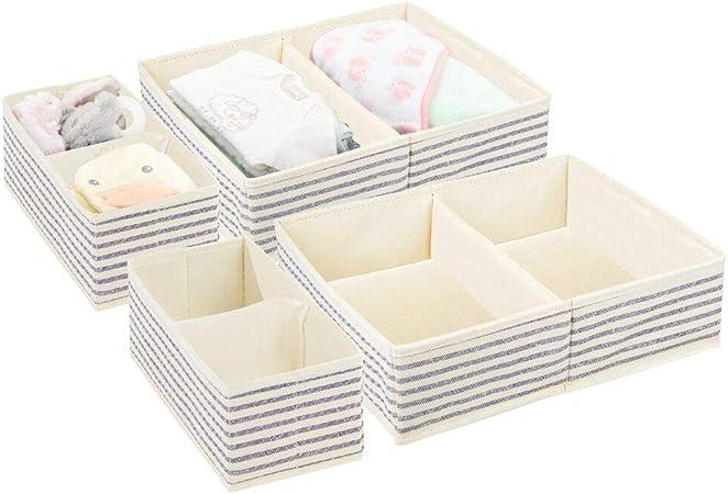 mDesign Juego de 4 Cajas para Guardar Ropa en 2 tamaños ...