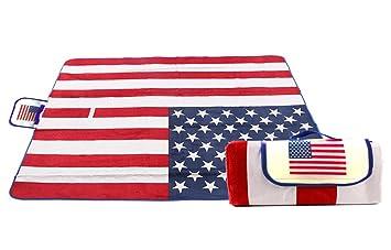 Amazoncom Extra Large American National Flag Outdoor Blanket