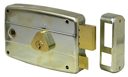 Serrature Per Cancelli Esterni.Cisa 50571 Serratura Da Applicare Per Cancello Entrata Destra 8 60 Mm Alluminio