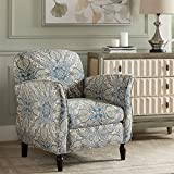 Accent Chair Blue Multi/Brown/See below For Sale