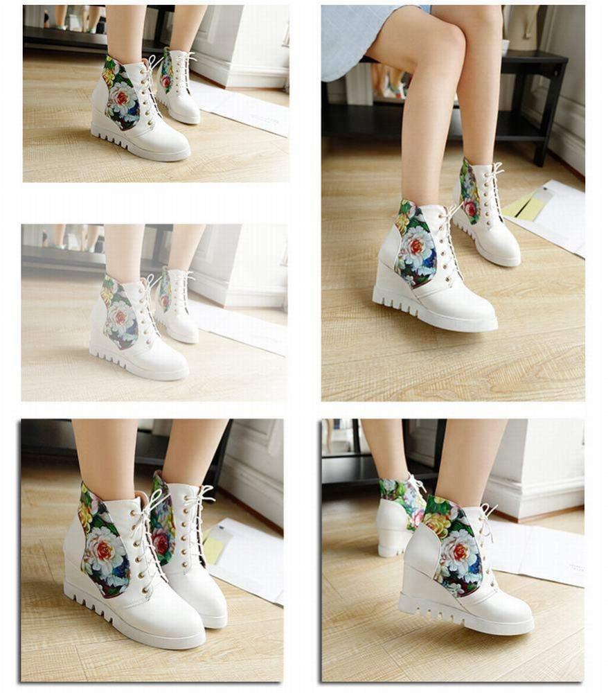 HhGold Damenschuhe - Binden Sie die Schuhe Schuhe Schuhe hoch hoch Lässige Flache Stiefel Sweet Student schuhe 35-43 (Farbe   Weiß Größe   42) 7a290a