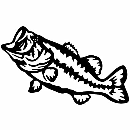 Bass decal choose color size bass fish die cut vinyl sticker fishing