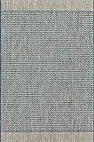 Loloi ISLEIE-03GYBB5377 ISLE Area Rug, 5′ 3″ x 7′ 7″, Grey/Blue For Sale