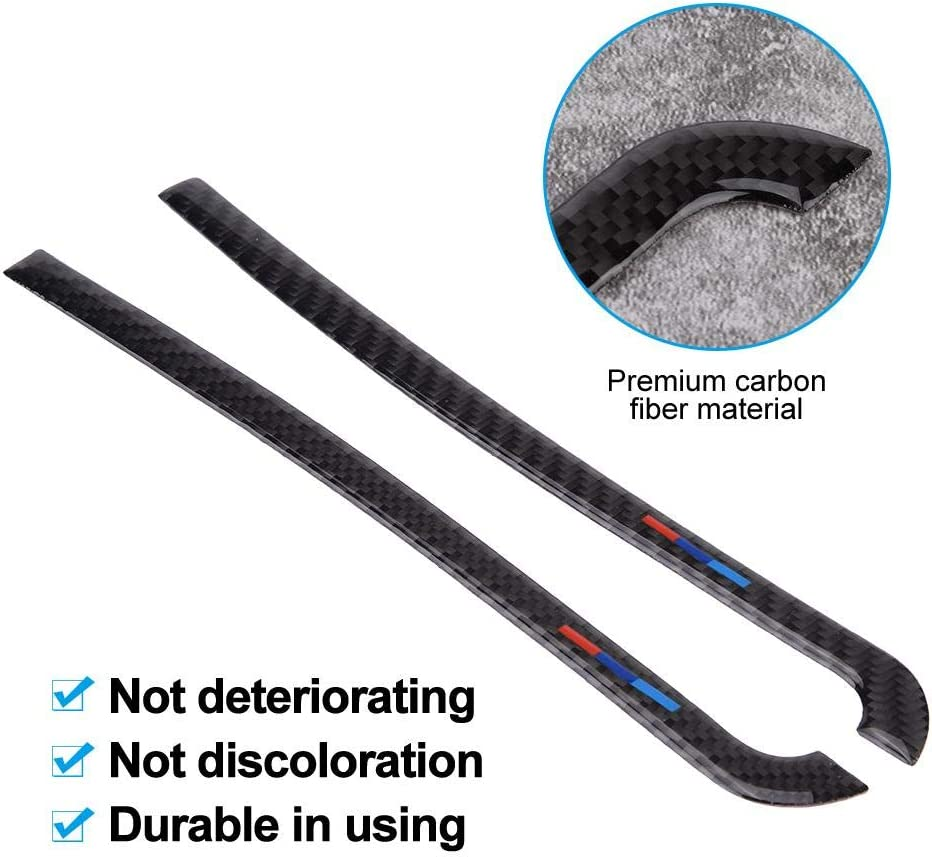 Vertikales Muster EBTOOLS 10.9in Auto Carbon R/ückspiegel Anti-Rub Strips Protector f/ür X5 F15 14-18