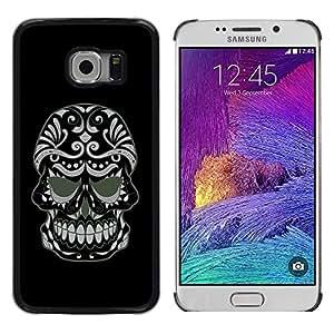 LASTONE PHONE CASE / Diseño de Delgado Duro PC / Aluminio Caso Carcasa Funda para Samsung Galaxy S6 EDGE SM-G925 / Cool Evil Sugar Skull