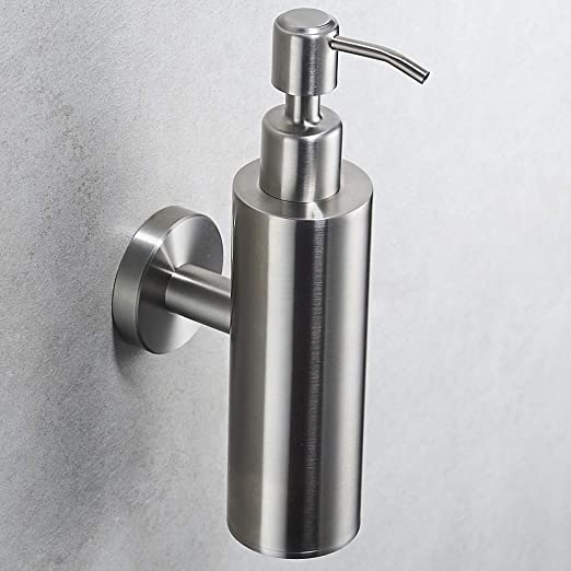 Amazon.com: Velimax SUS304 Stainless Steel Hand Soap Dispenser Liquid Soap Dispenser Shampoo Lotion Pump Dispenser Wall Mounted Contemporary Style Brushed ...