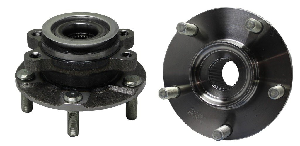 Both (2) Front Driver and Passenger Side Complete Wheel Hub and Bearing Assembly Set for [07-12 Sentra SE-R, SE-R SpecV] - 08-13 Rogue - [14-15 Rogue Select] by Detroit Axle