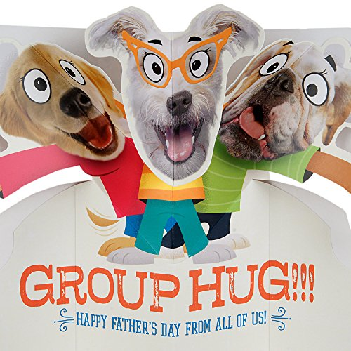 Hallmark Funny Father's Day Greeting Card from All (Dog Pop-Up Group Hug) Photo #6