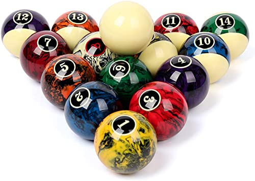 Complete Set Of 16 Miniature Mini Pool Billiard Balls Diameter Snooker Balls Kw