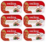 King Oscar Cod Liver Canned 121g can From Norway pack of 6