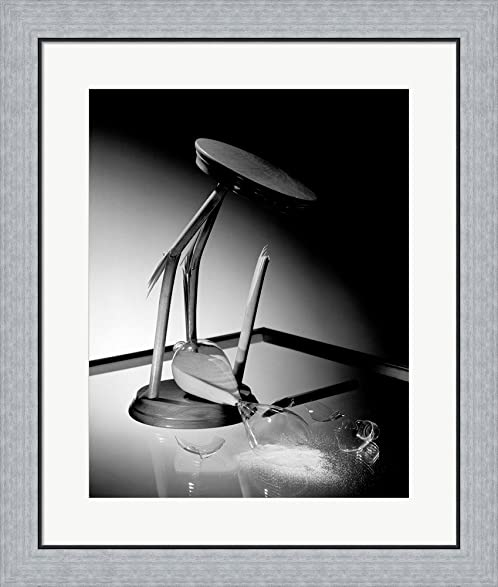 Amazon.com: Broken hourglass Framed Art Print Wall Picture, Flat ...