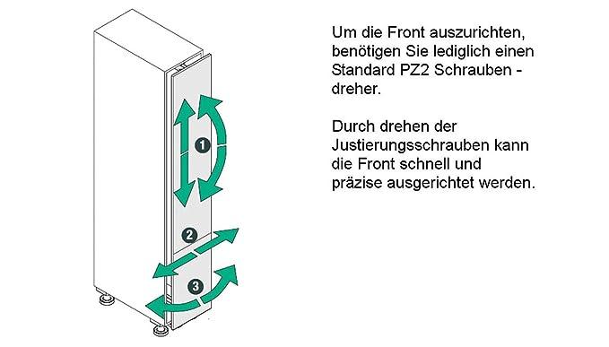 SO-TECH® Dispensa-x Komplettset APOTHEKERAUSZUG Höhe 1200-1600 mm ...