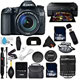 Canon EOS 70D DSLR Camera with 18-135mm f/3.5-5.6 STM Lens International Version (No Warranty) + Epson SureColor P800 Inkjet Printer + 16GB & 32GB SDHC Class 10 Memory Card + Carrying Case Bundle