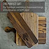 Virginia Boys Kitchens - Made in USA - Wood Cutting Boards - 9 Sizes and Shapes to Choose From - Reversible with Juice Groove