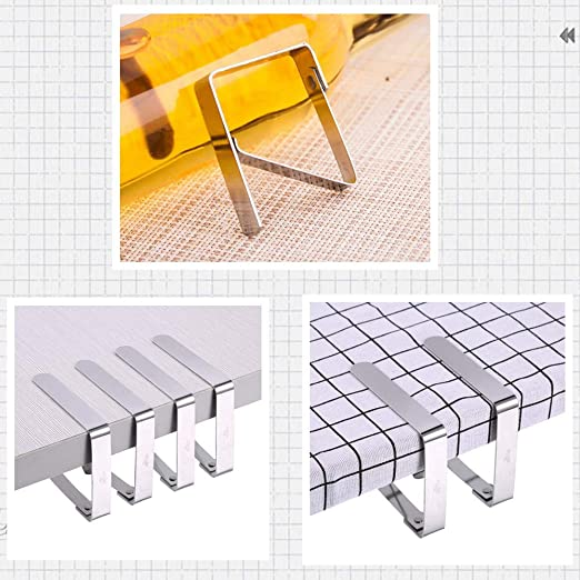 Black Colors Stainless Steel Outdoor Table Cloth Holder Table Cover Clips Clamps 6 Packs Mannli Picnic Tablecloth Clips