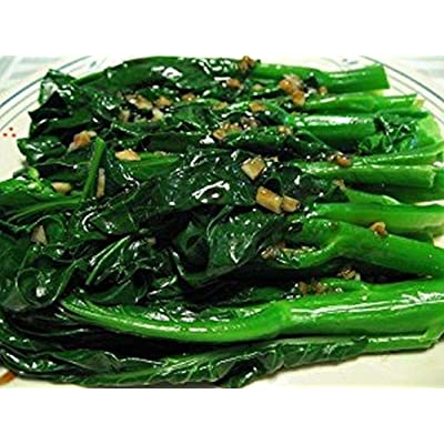 Wan Shen Seeds - Late maturing Chinese broccoli also bolts late - large leaves!!(50 - Seeds) : Garden & Outdoor
