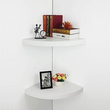 Excellent Hao Set Of 2 Large Modern Radial Corner Wall Shelves Corner Interior Design Ideas Jittwwsoteloinfo