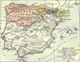 Home Comforts LAMINATED POSTER Map of Spain in 1037 POSTER PRINT 24 X 36