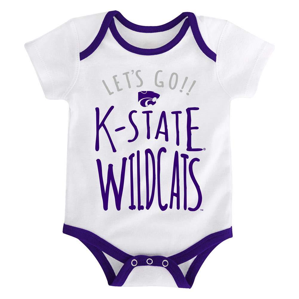 Outerstuff Kansas State University Infant Creeper Set Lil Tailgater 3 Pack