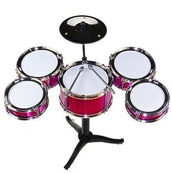 Black Temptation Conjunto de batería para niños Percusión Instrumentos Musicales Juguetes educativos Juguetes para bebés Rojo: Amazon.es: Juguetes y juegos