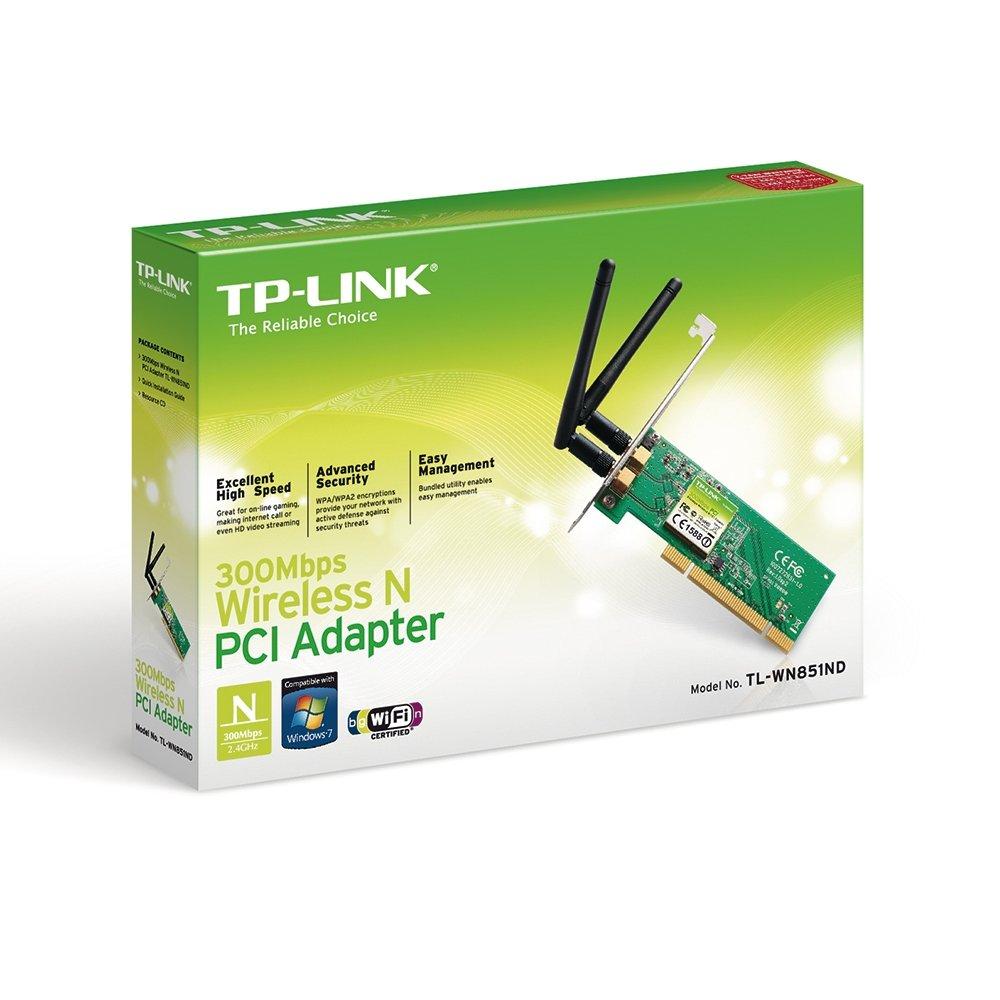 TP-LINK 300/Mbps Wireless N PCI Adapter//–/Accessoire de r/éseau sans fil PCI, WLAN, 300/mbit//s, IEEE 802.11b, IEEE 802.11/g, IEEE 802.11/N, 16-qam, 64-qam, cCK, dbpsk, dqpsk, OFDM Multi acier inoxydable